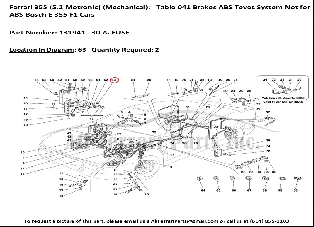 PN131941ID88201 ferrari part number 131941 30 a fuse ferrari 355 wiring diagram at crackthecode.co
