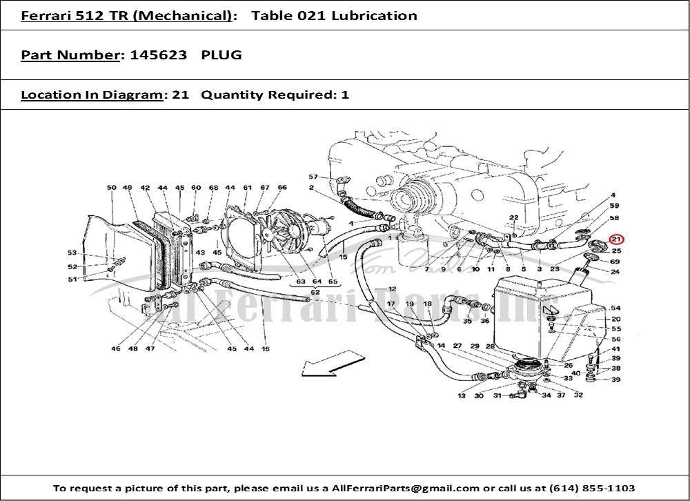 ferrari part number 145623 plug ferrari 512 tr for wiring diagram #14