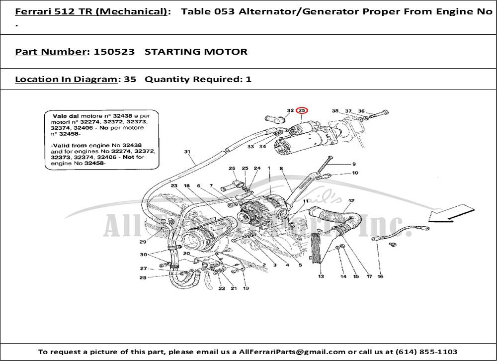 tr leviton wiring diagram ferrari part number 150523 starting motor ferrari 512 tr for wiring diagram #5