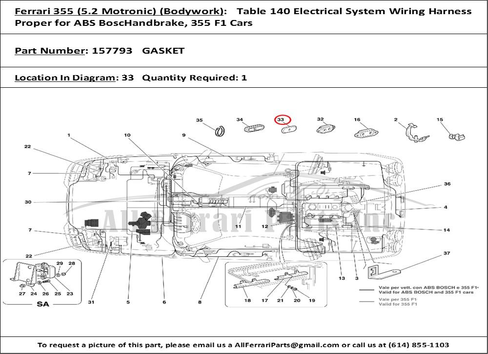 ferrari 355 f1 wiring diagrams ferrari chassis wiring