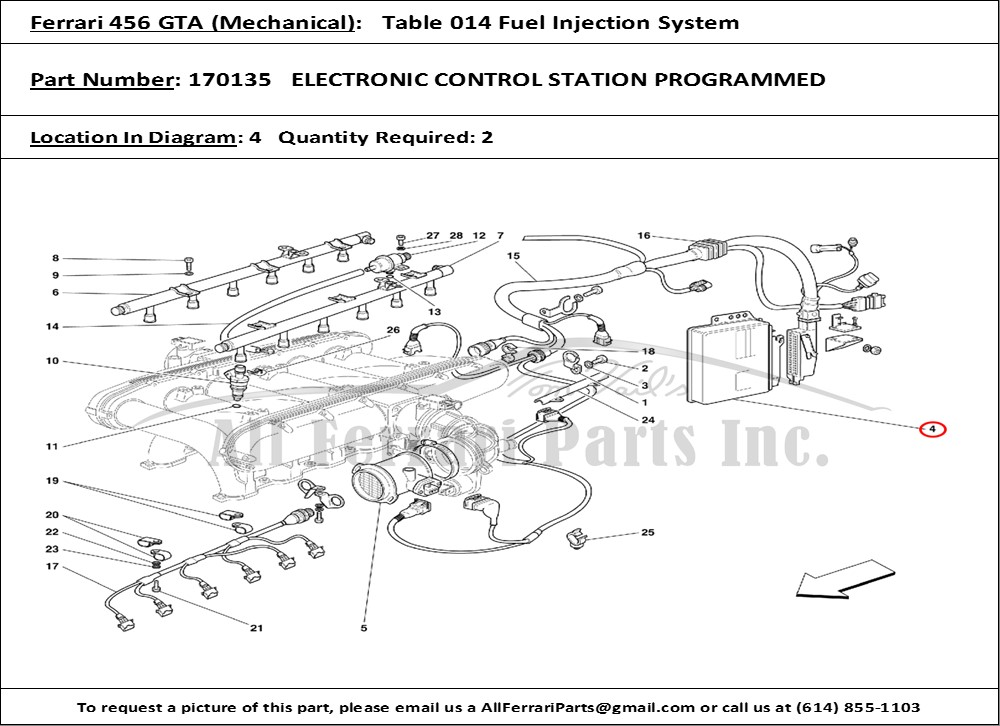 ferrari part number 170135 electronic control station programmed ferrari 360 wiring diagrams ferrari 456 gt wiring diagrams #7