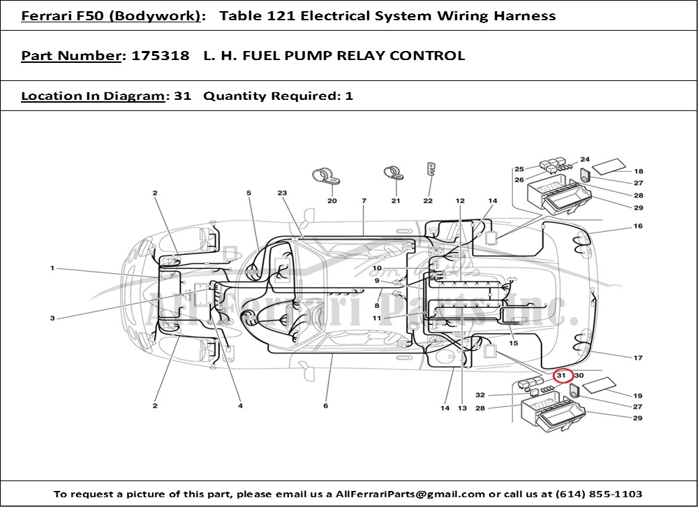 ferrari 456 gt wiring diagrams wiring diagrams 1997 ford mustang gt ferrari part number 175318 l. h. fuel pump relay control