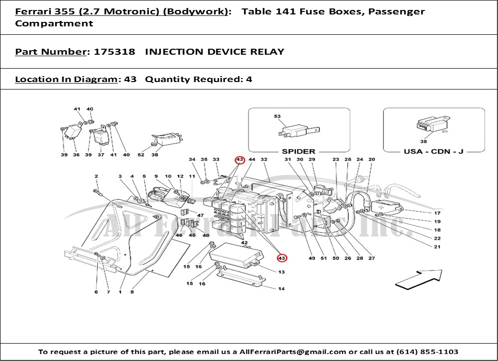 ferrari part number 175318 injection device relay wiring diagram for 2001 ferrari 360