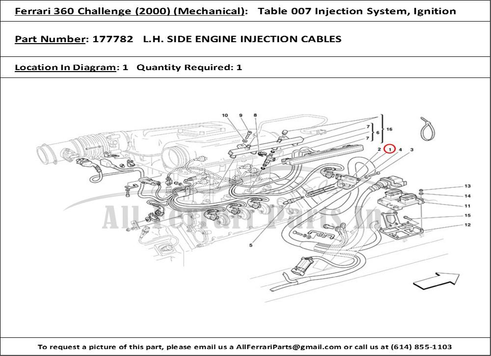 ferrari 456 gt wiring diagrams ferrari 360 wiring diagrams ferrari part 177782 left engine ignition/injection wiring ...