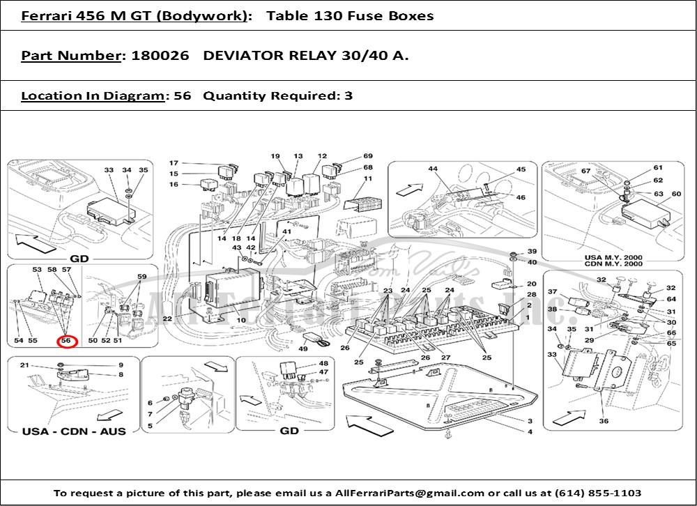 ferrari car manuals wiring diagrams pdf ferrari 456 gt wiring diagrams ferrari part number 180026 deviator relay 30/40 a. #1
