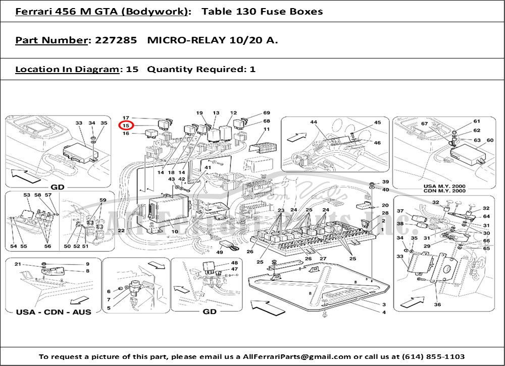 ferrari part number 227285 micro relay 10 20 a. Black Bedroom Furniture Sets. Home Design Ideas