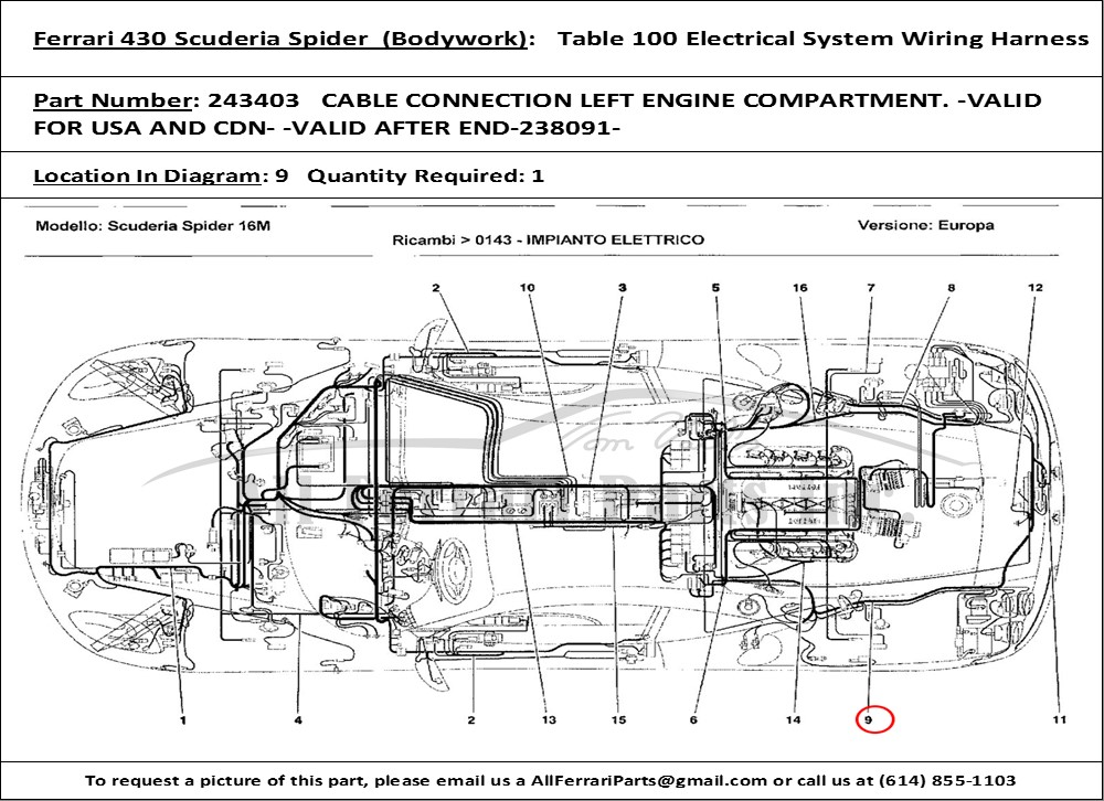 ferrari electrical wiring diagram ferrari dino wiring diagram