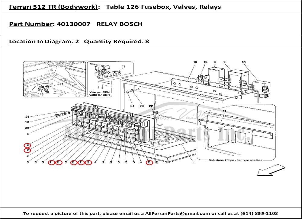 ferrari 512 tr for wiring diagram dvi connector for wiring diagram ferrari part number 40130007 relay bosch