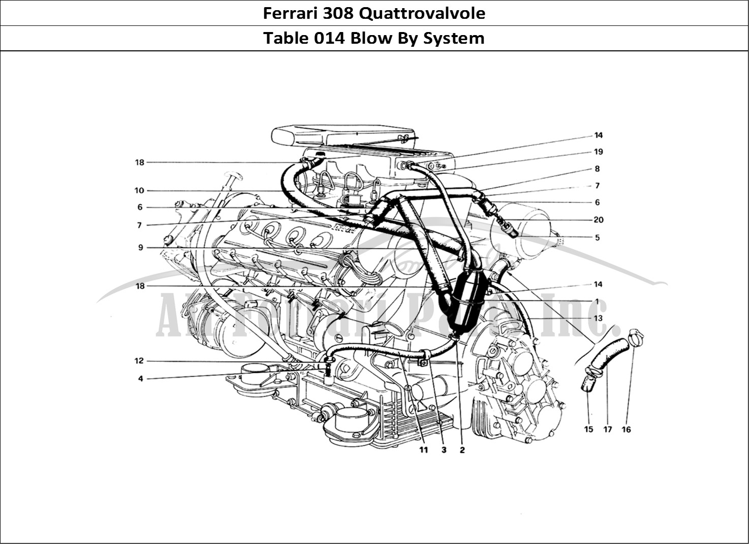 buy original ferrari 308 quattrovalvole 014 blow by system ferrari parts  spares  accessories online