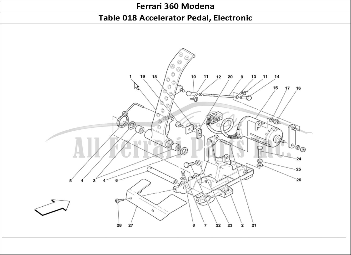 buy original ferrari 360 modena 018 accelerator pedal