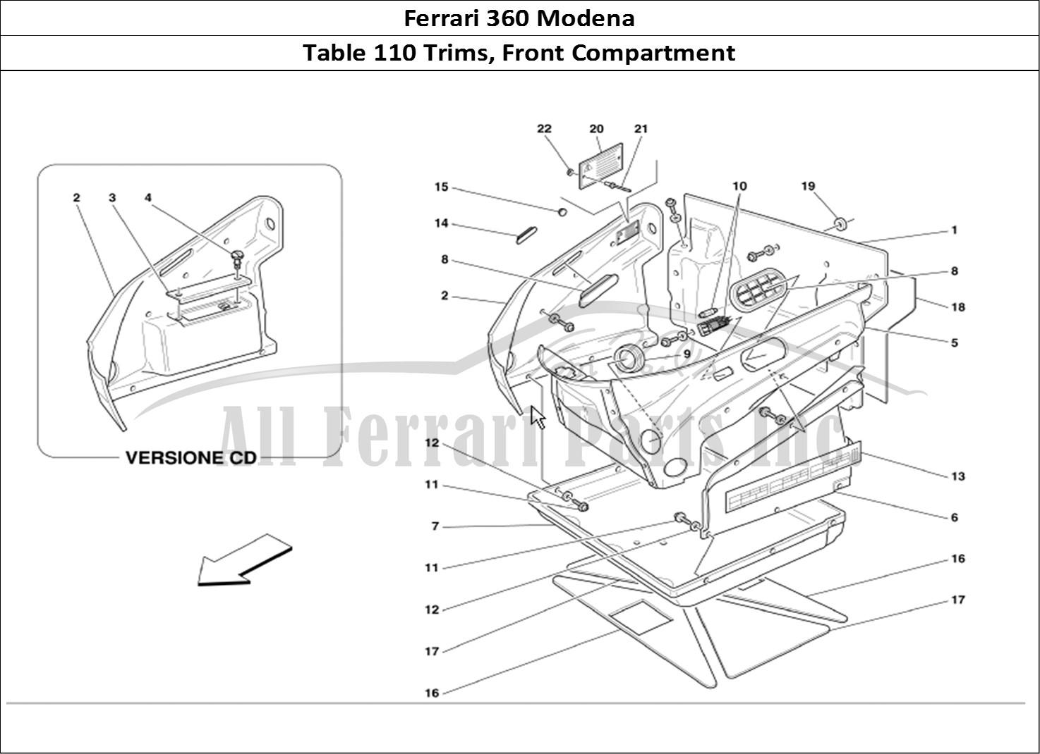 buy original ferrari 360 modena 110 trims  front compartment ferrari parts  spares  accessories