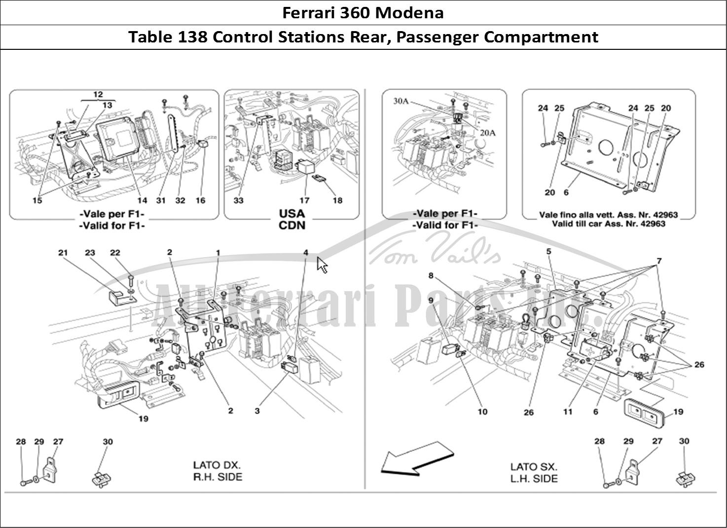 buy original ferrari 360 modena 138 control stations rear. Black Bedroom Furniture Sets. Home Design Ideas