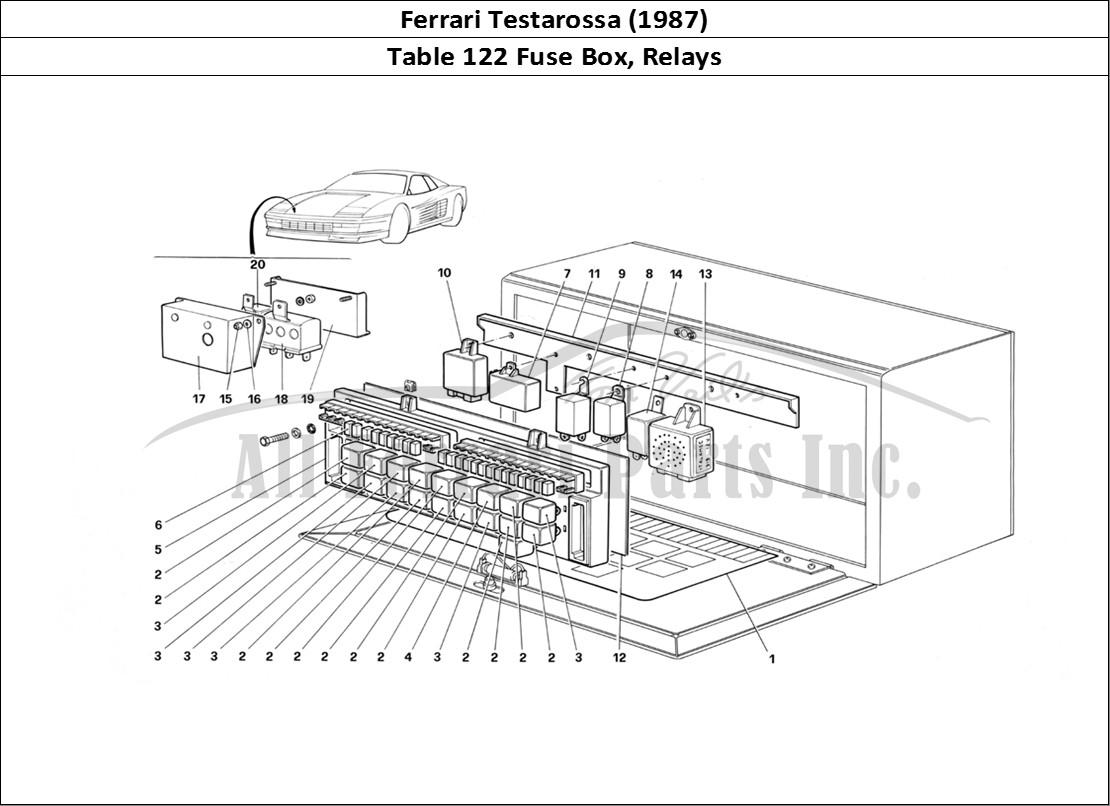 buy original ferrari testarossa  1987  122 fuse box  relays ferrari parts  spares  accessories