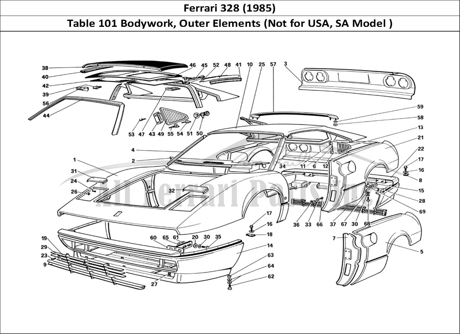 Buy Original Ferrari 328  1985  101 Bodywork  Outer Elements  Not For Usa  Sa Model   Ferrari