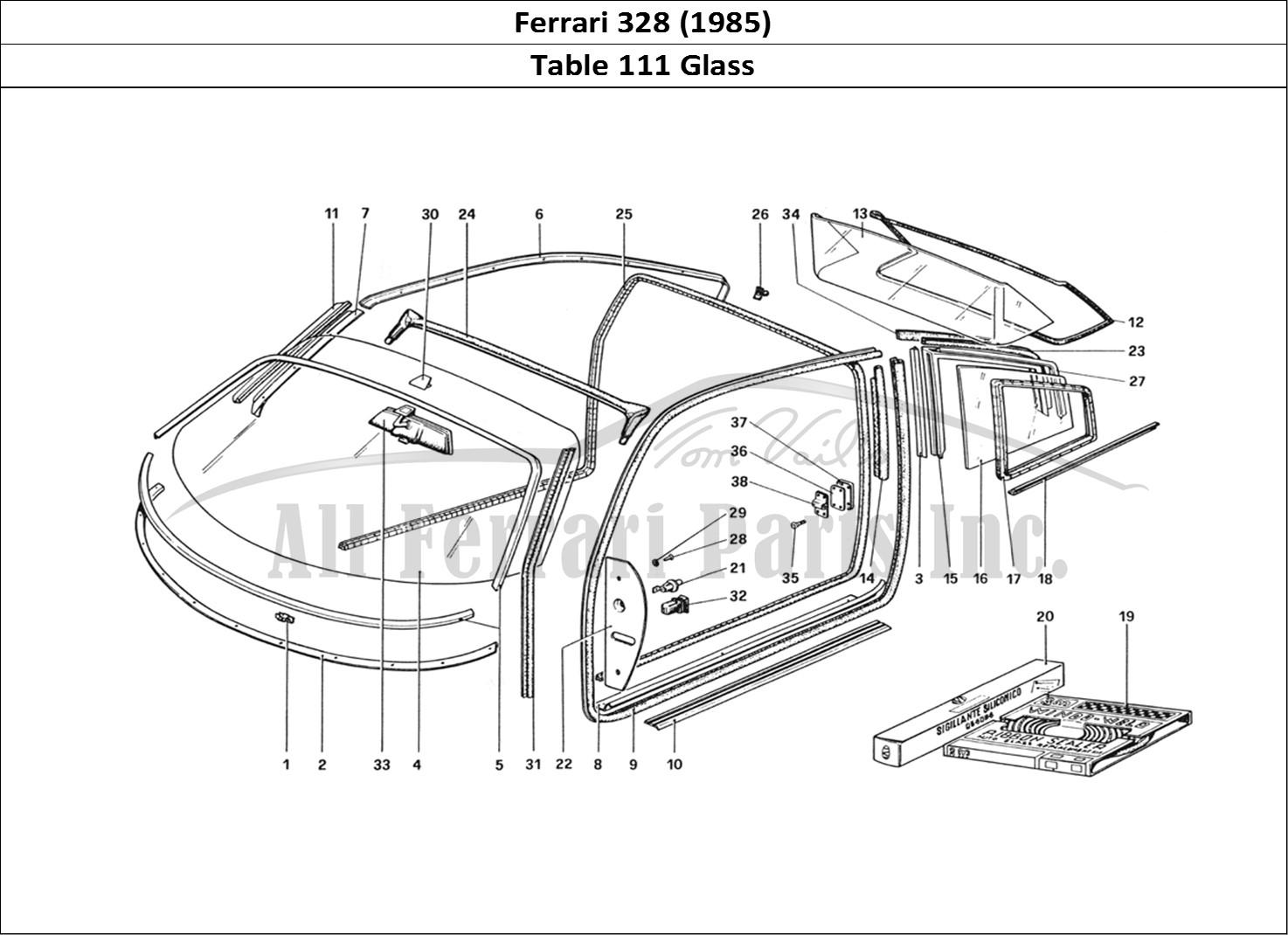 Buy Original Ferrari 328  1985  111 Glass Ferrari Parts  Spares  Accessories Online