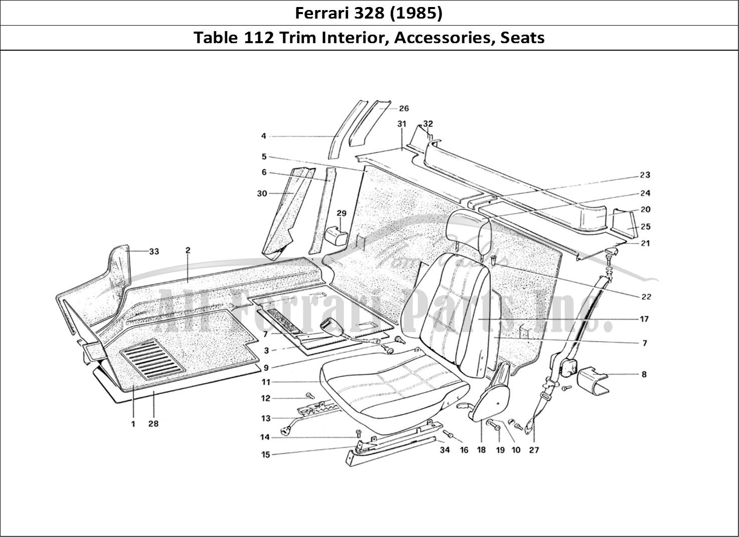 Buy Original Ferrari 328  1985  112 Trim Interior  Accessories  Seats Ferrari Parts  Spares