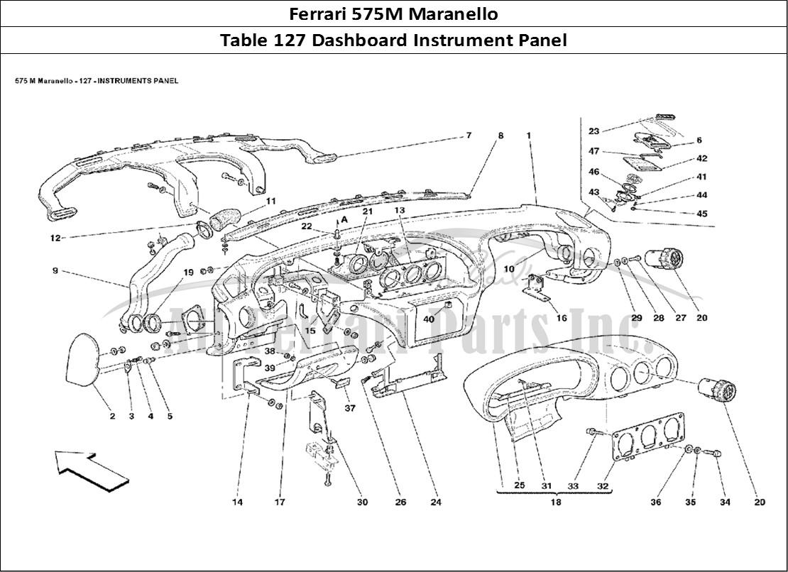 Buy original Ferrari 575M Maranello 127 Dashboard Instrument Panel on