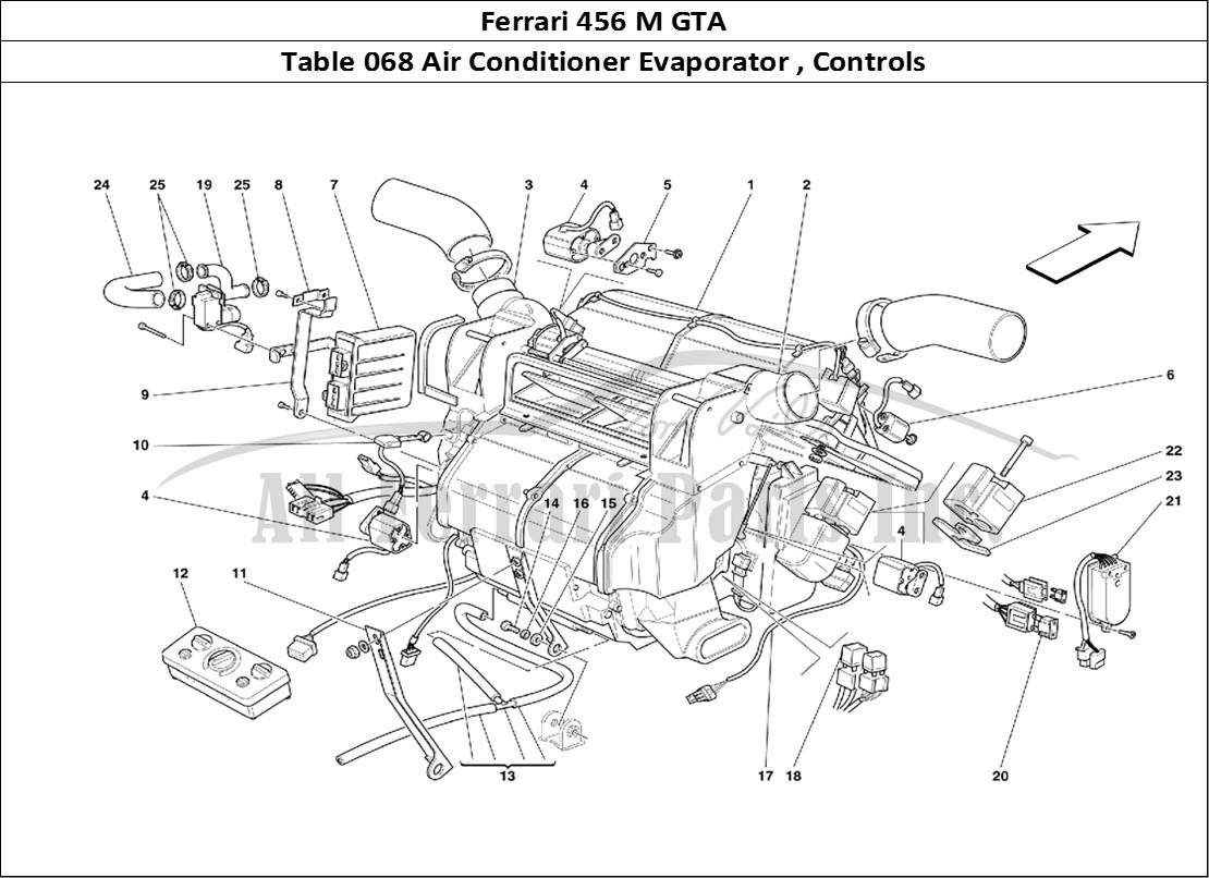 Buy Original Ferrari 456 M Gta 068 Air Conditioner Evaporator Wiring Diagram Mechanical Table Controls