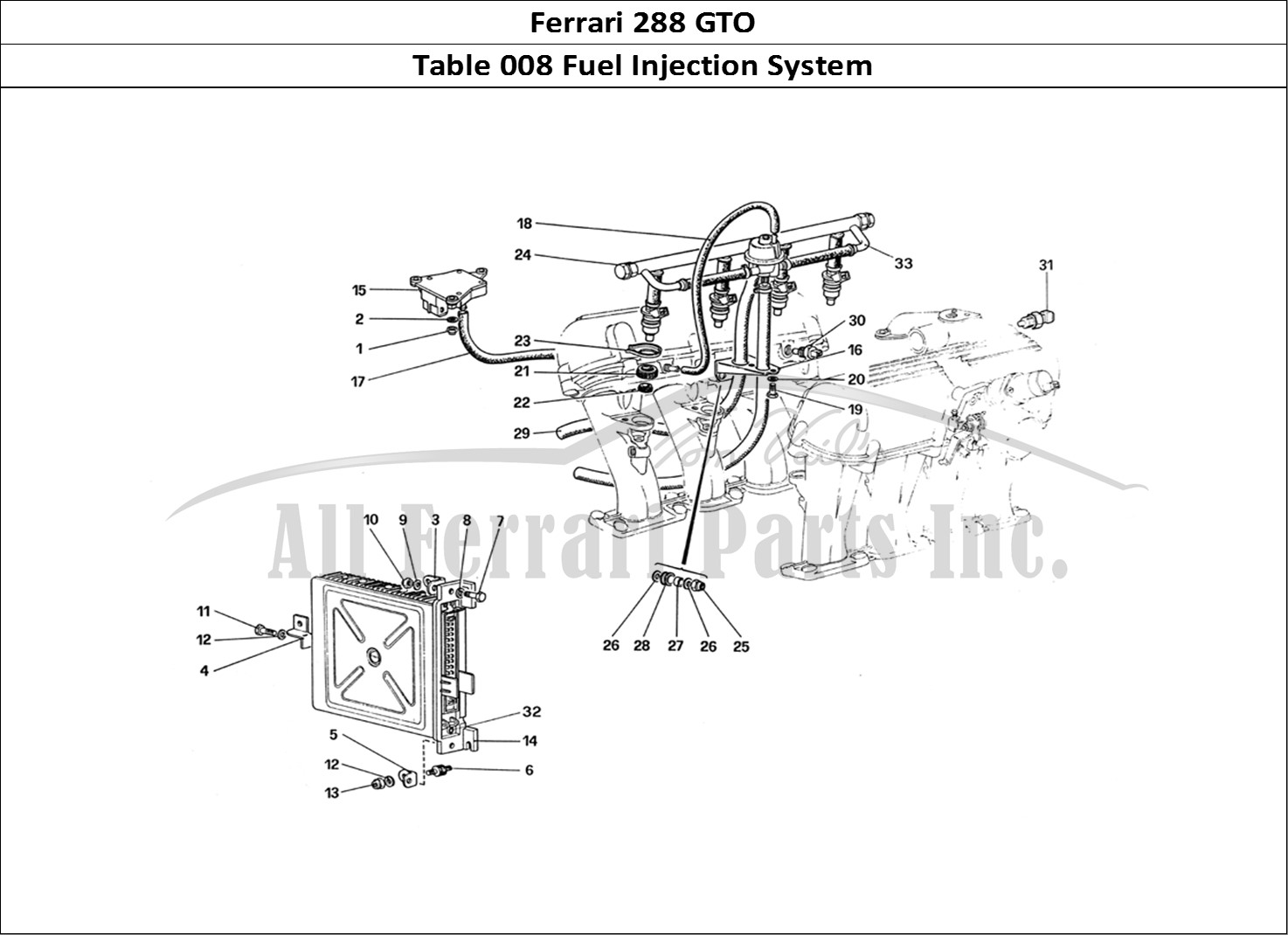Buy original Ferrari 288 GTO 008 Fuel Injection System
