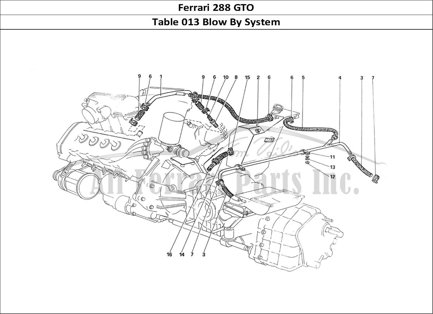buy original ferrari 288 gto 013 blow by system ferrari parts  spares  accessories online