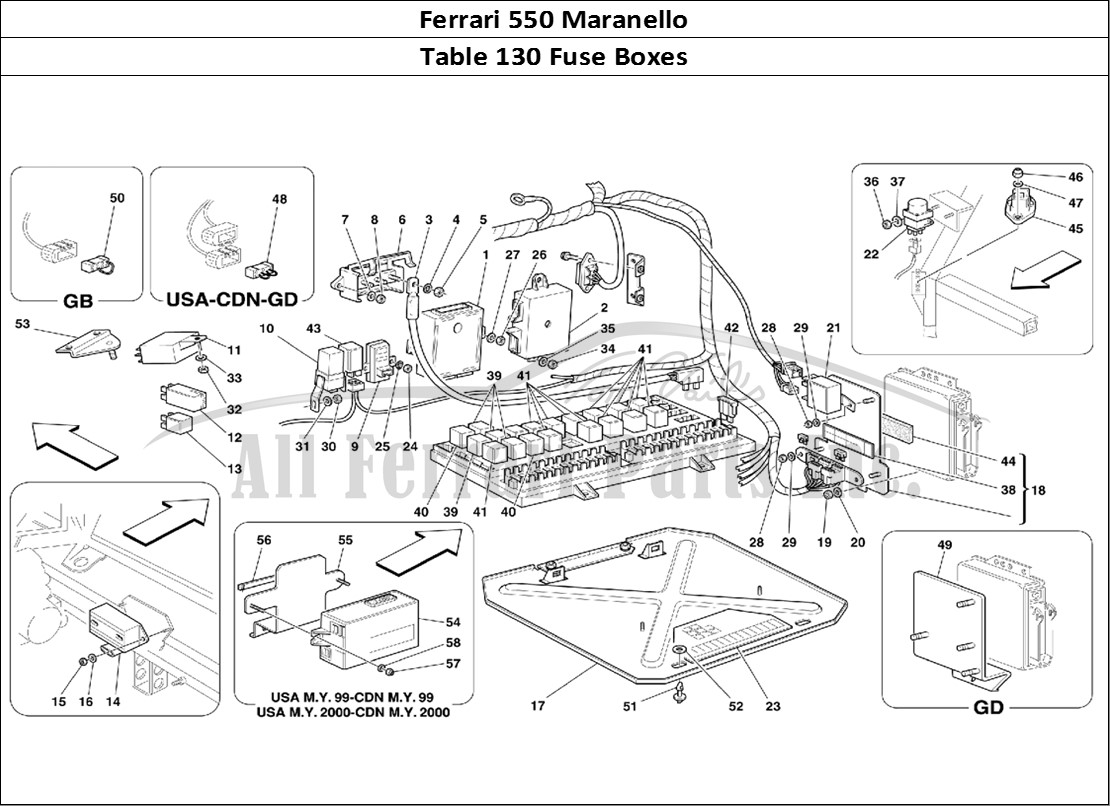 buy original ferrari 550 maranello 130 fuse boxes ferrari parts  spares  accessories online