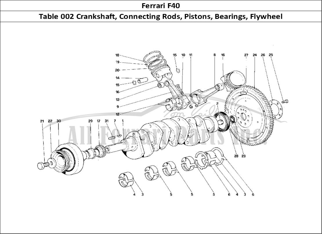 buy original ferrari f40 002 crankshaft  connecting rods