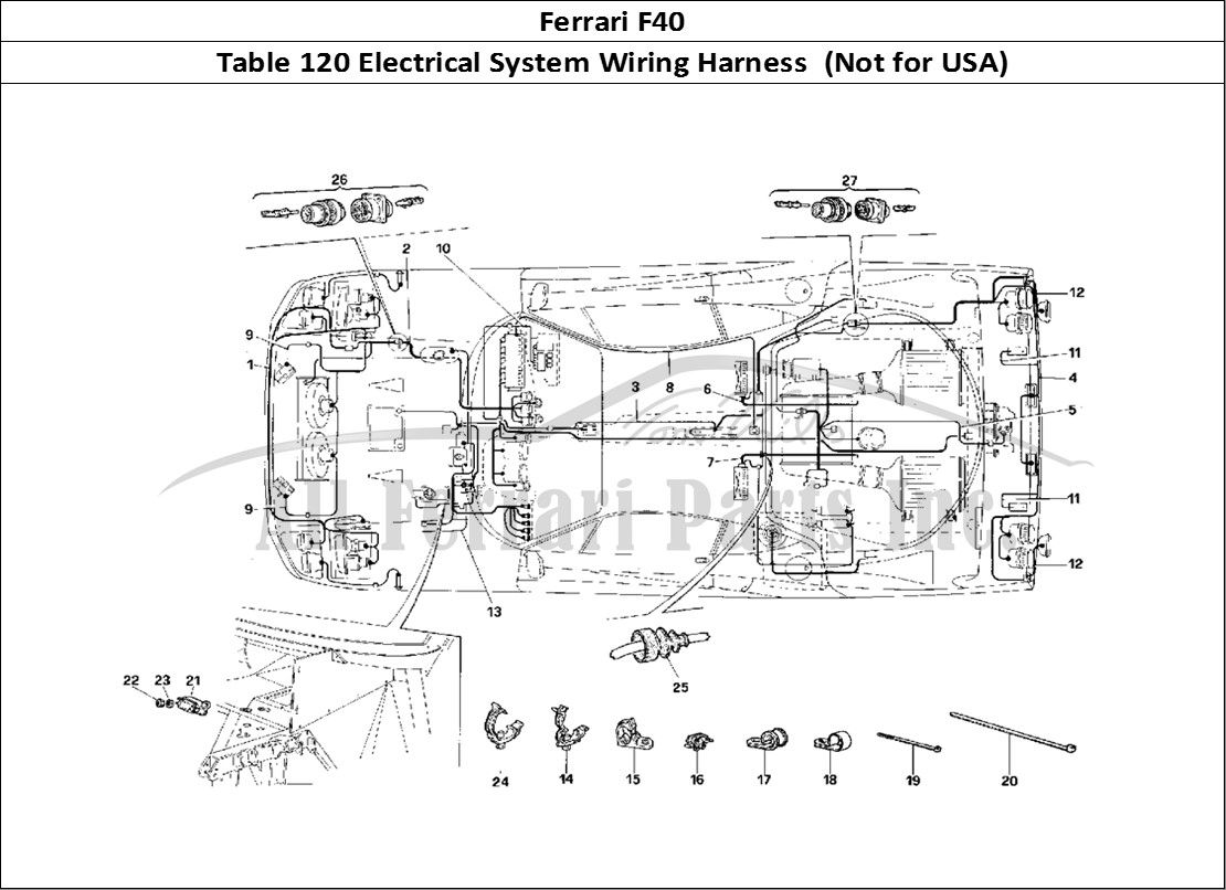 Buy Original Ferrari F40 120 Electrical System Wiring