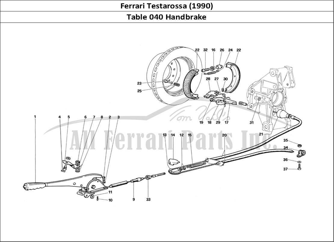 buy original ferrari testarossa  1990  040 handbrake ferrari parts  spares  accessories online