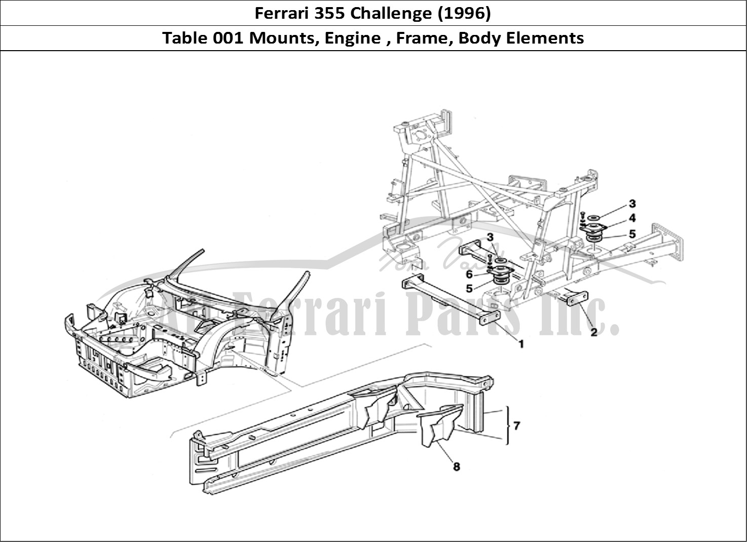 buy original ferrari 355 challenge  1996  001 mounts