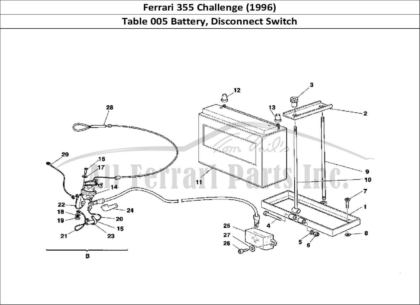 buy original ferrari 355 challenge  1996  005 battery