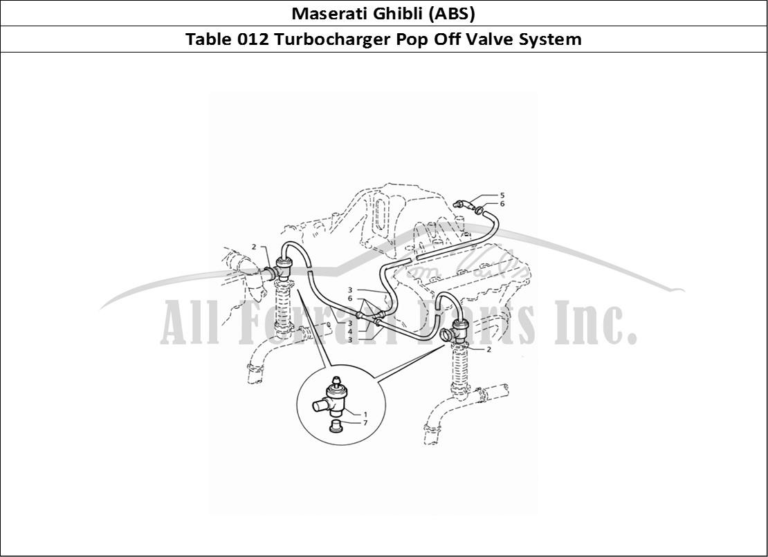 Buy Original Maserati Ghibli Abs 012 Turbocharger Pop Off Valve Diagram Mechanical Table System