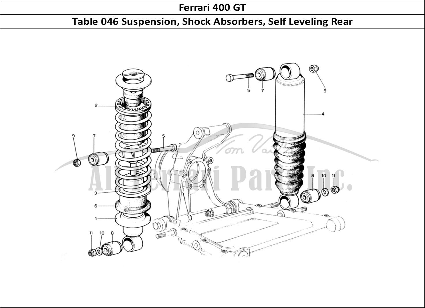 buy original ferrari 400 gt 046 suspension  shock absorbers  self leveling rear ferrari parts