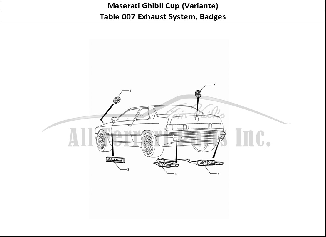Buy Original Maserati Ghibli Cup Variante 007 Exhaust System Pics Photos Parts Detail Diagram For Mechanical Table Badges