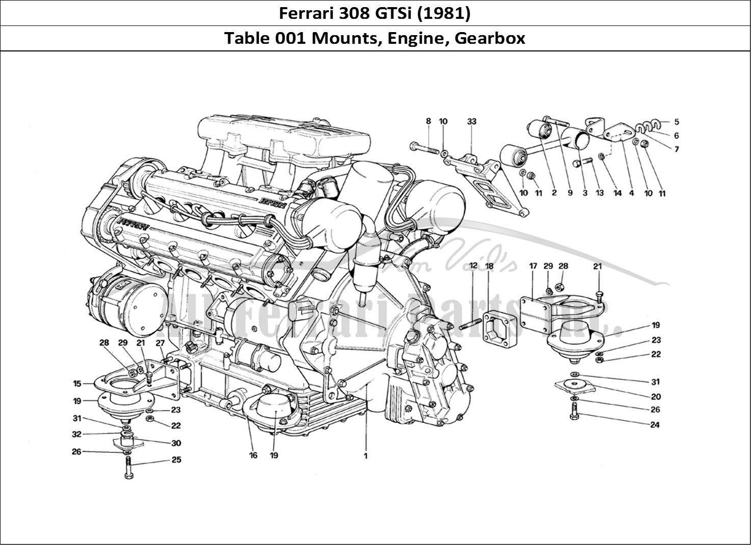 Ferrari 308 Engine Diagram Trusted Wiring Gm Buy Original Gtsi 1981 001 Mounts Gearbox Timing Belts