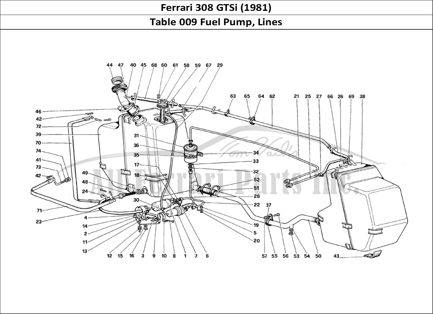 buy original ferrari 308 gtsi  1981  009 fuel pump  lines