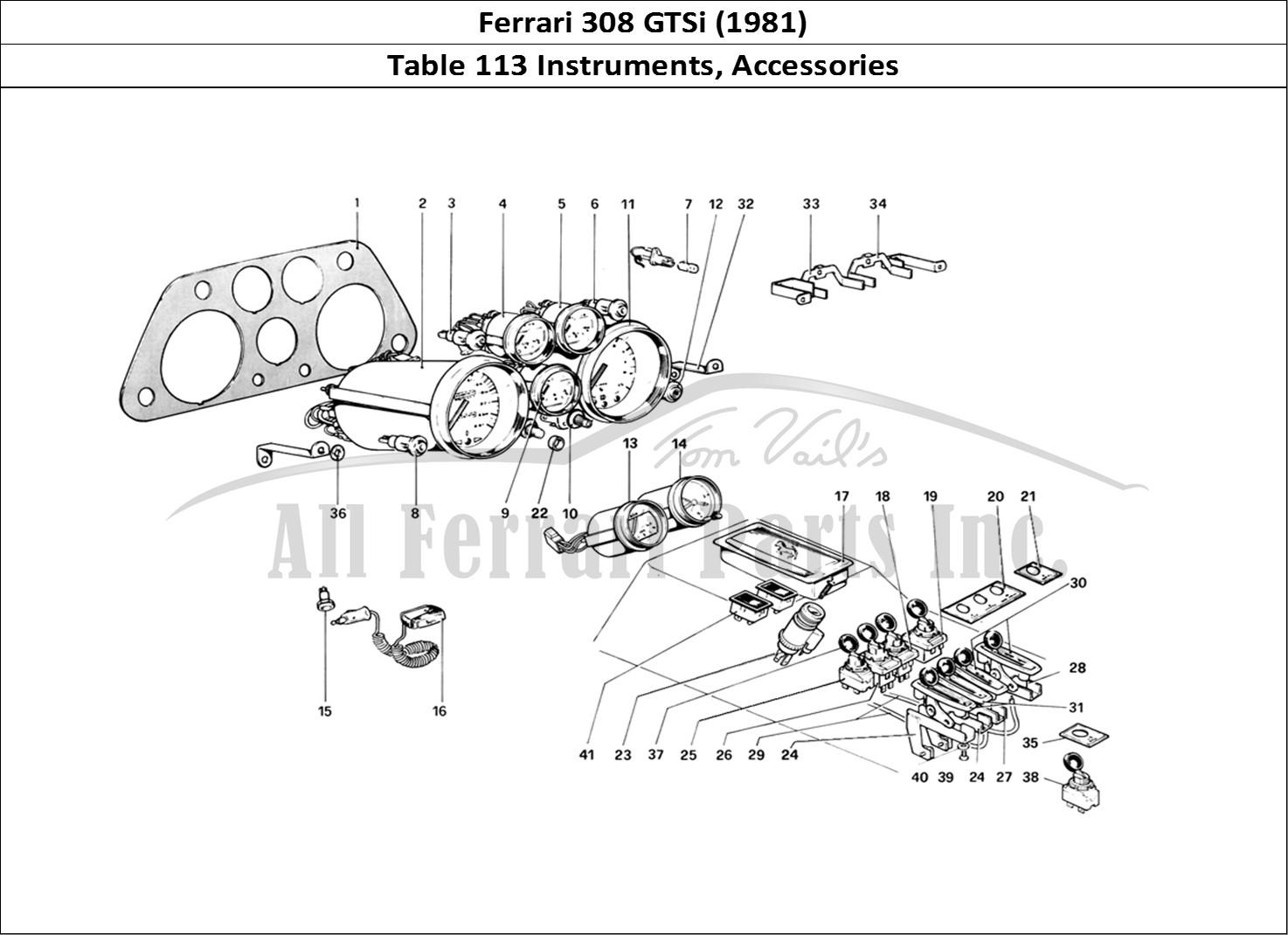 buy original ferrari 308 gtsi  1981  113 instruments