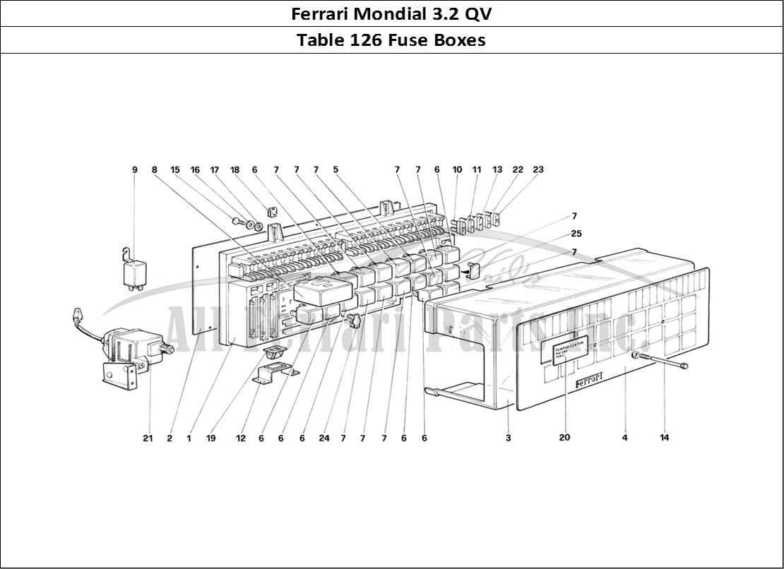 buy original ferrari mondial 3 2 qv 126 fuse boxes ferrari parts  spares  accessories online