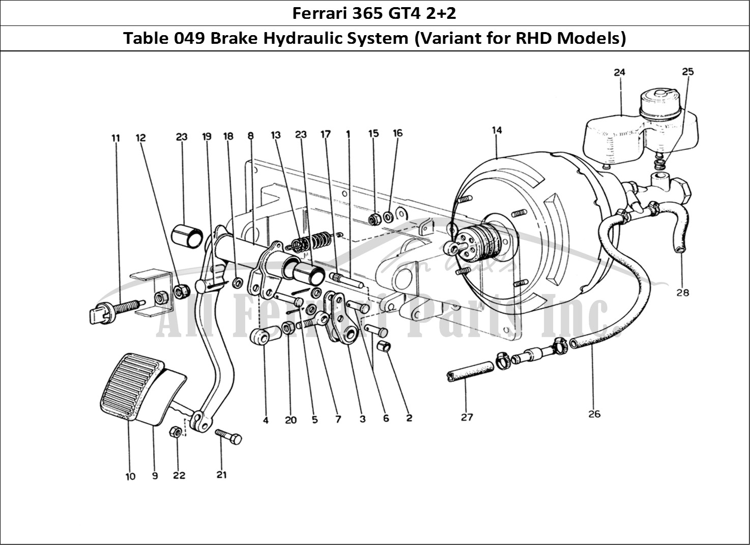 Buy original Ferrari 365 GT4 2+2 049 Brake Hydraulic System