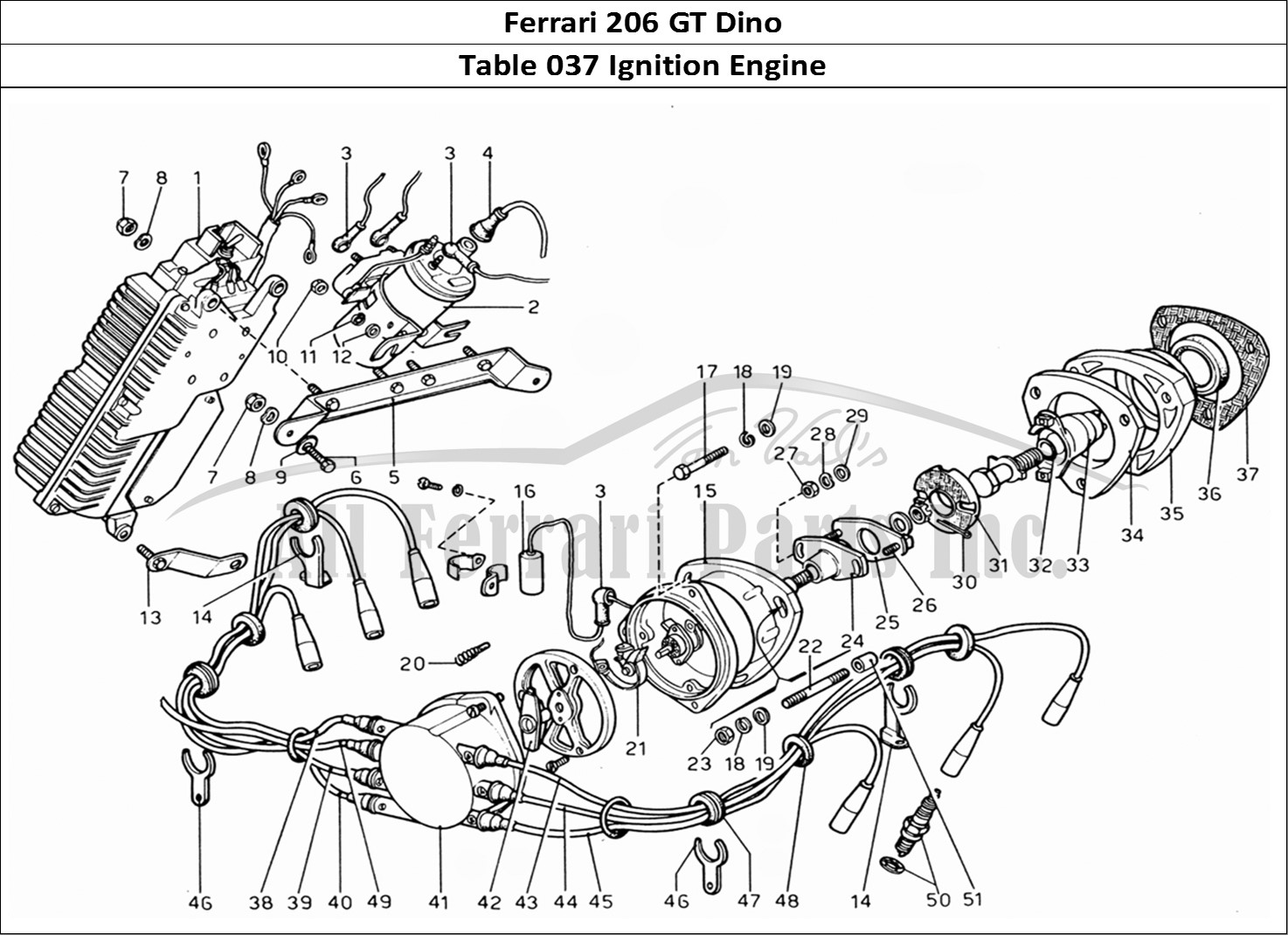 Buy Original Ferrari 206 Gt Dino 037 Ignition Engine Parts Diagram Mechanical Table