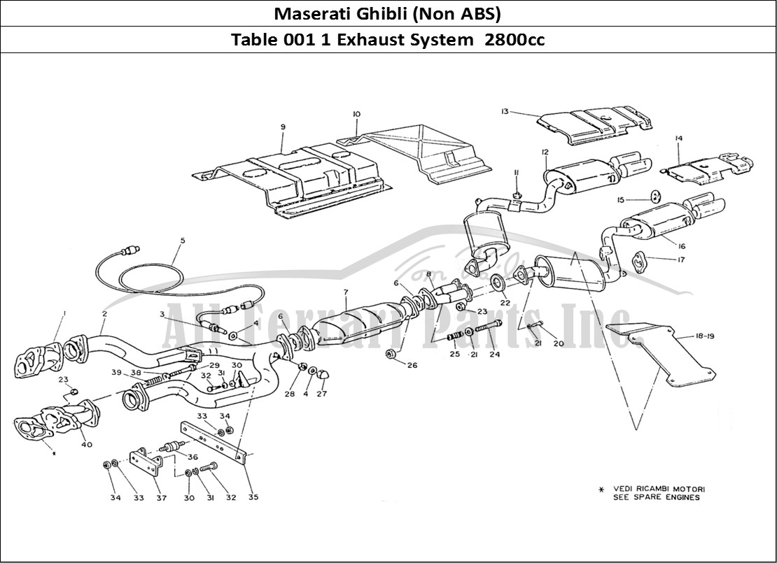 Buy Original Maserati Ghibli Non Abs 001 1 Exhaust System 2800cc Diagram Of Mechanical Table