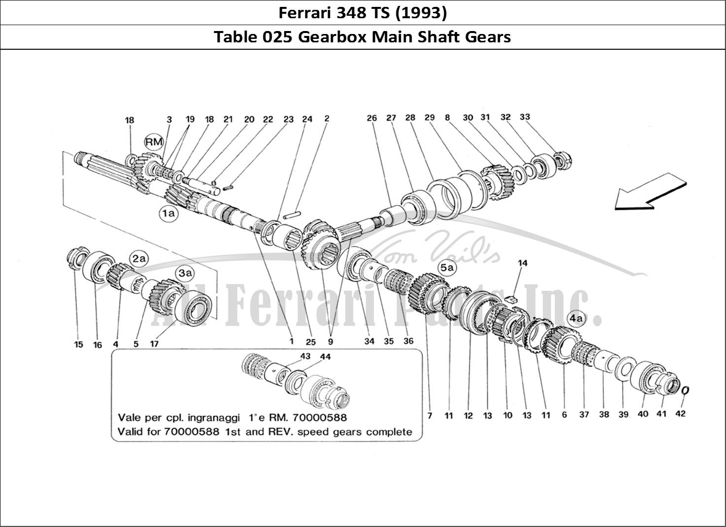g56 diagram main shaft buy original ferrari 348 ts (1993) 025 gearbox main shaft ...