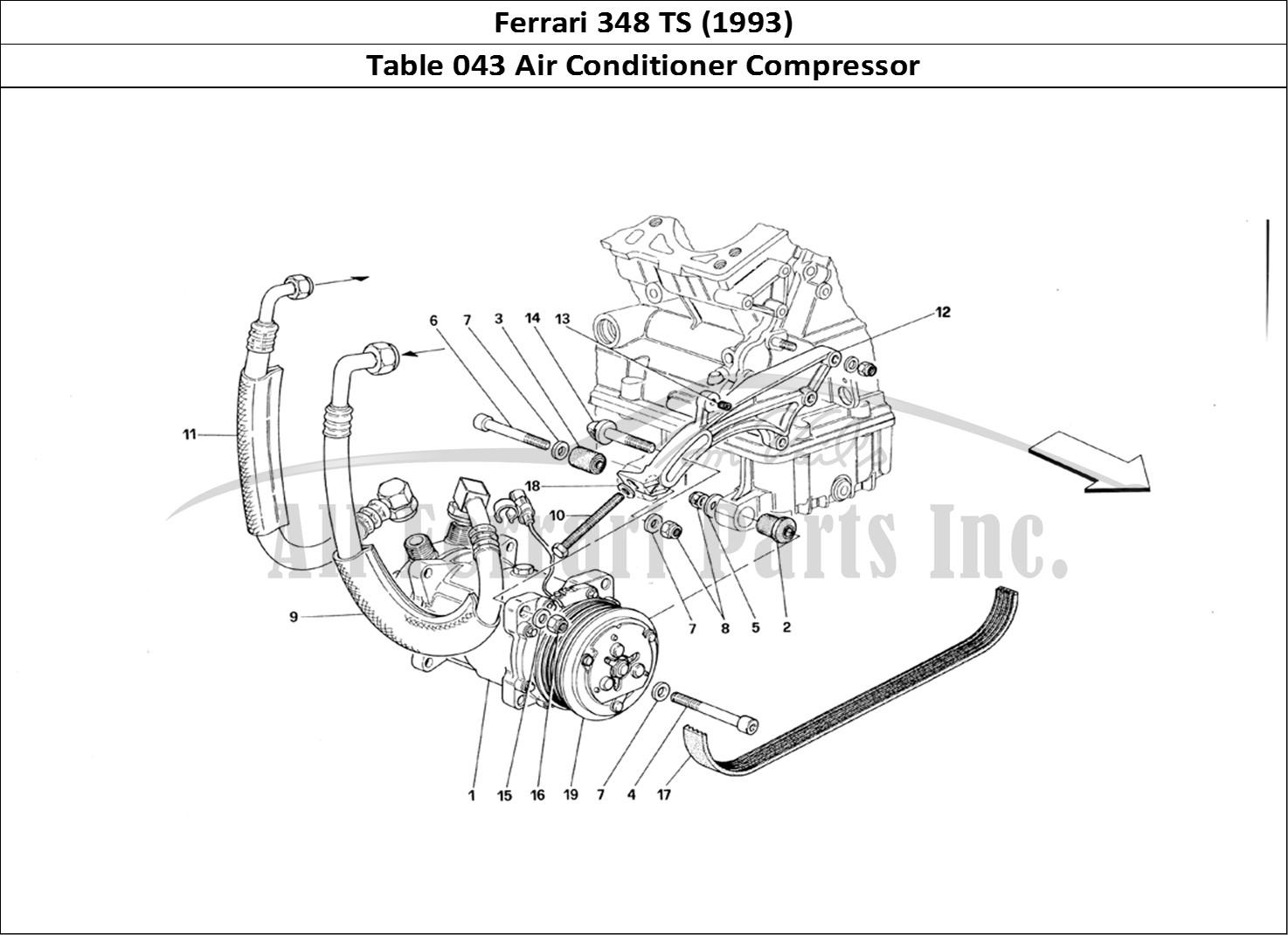 buy original ferrari 348 ts  1993  043 air conditioner