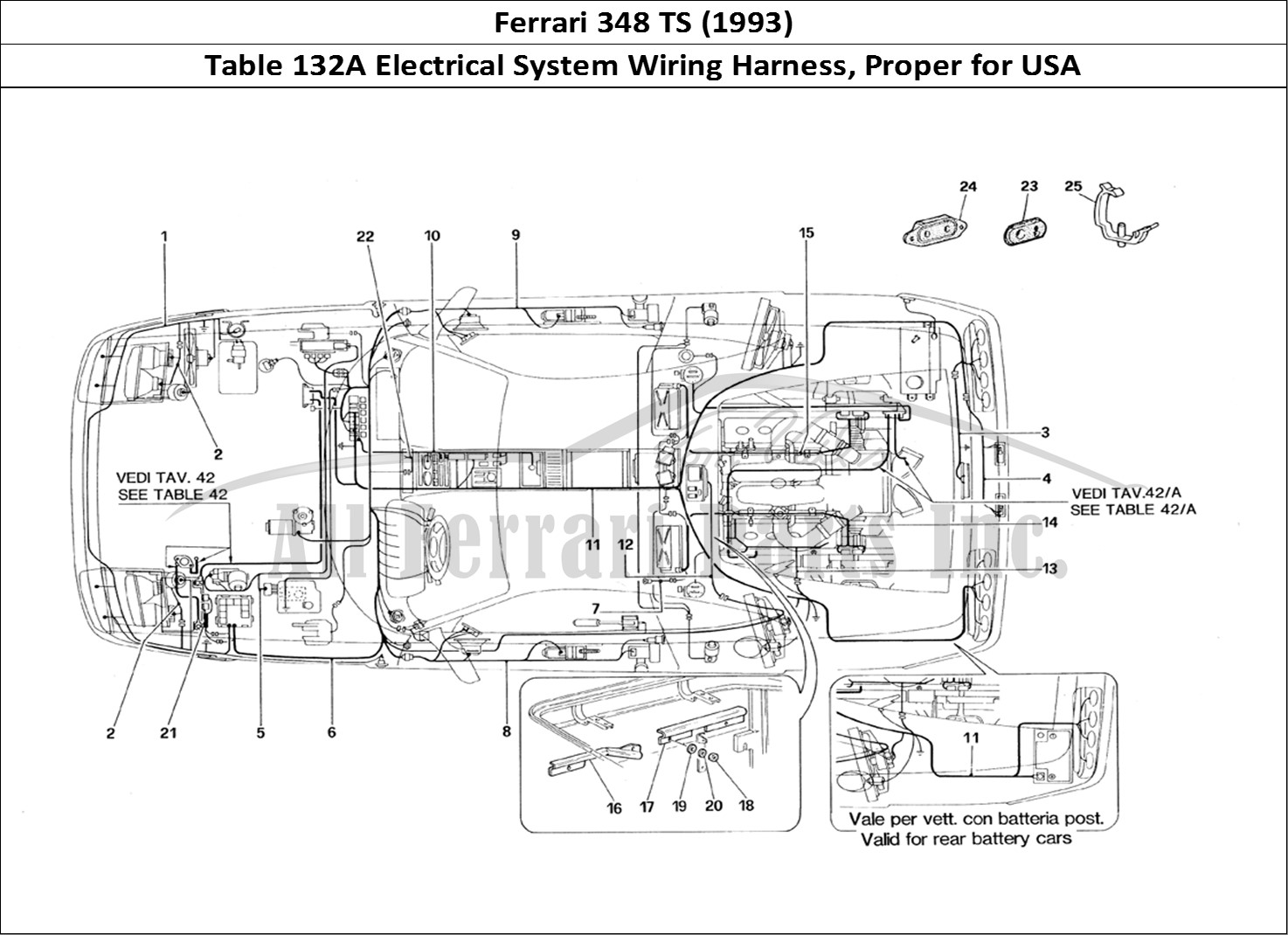 Ferrari ts bodywork table a electrical