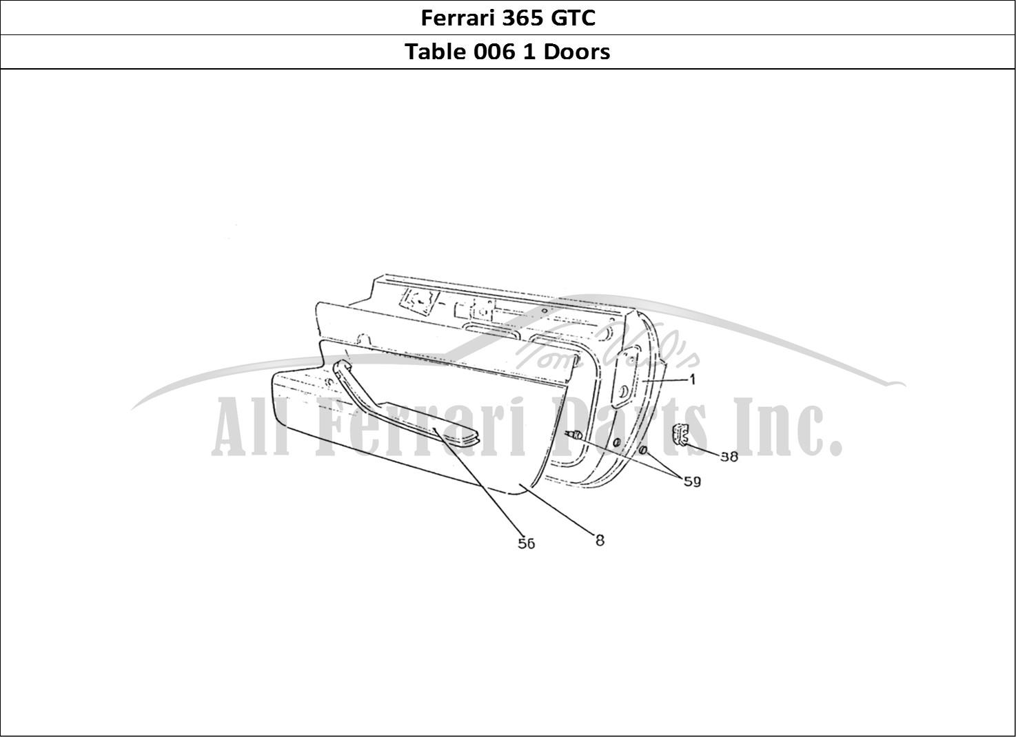 365 Gtc Wiring Diagram Library Leroy Somer Avr R448 Diagramchina Ferrari Bodywork Table 006 1 Doors