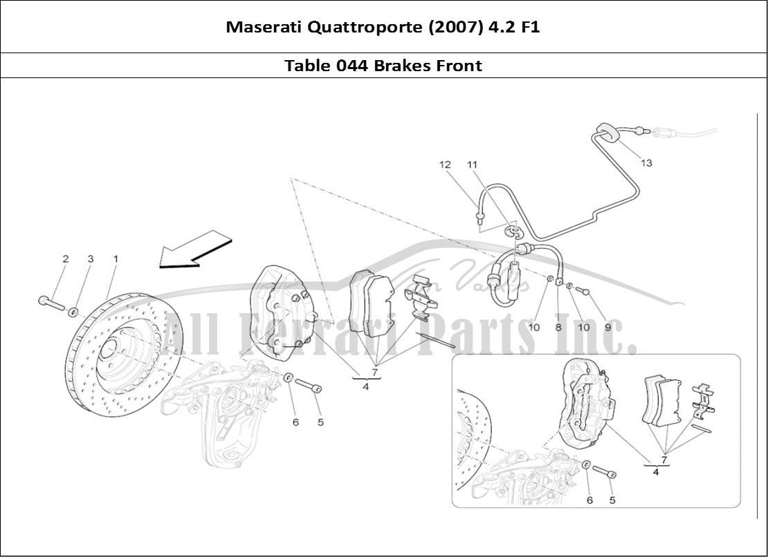 Brake Disc Pad Set Front Maserati Quattroporte III 4.2