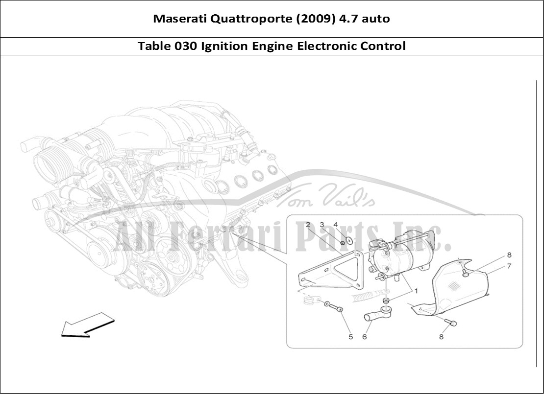Maserati Quattroporte (2009) 4.7 auto Mechanical Table 030 Ignition Engine  Electronic Control