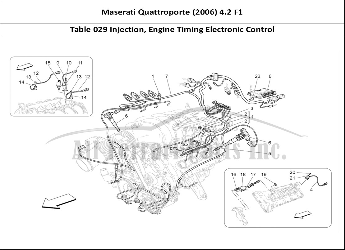 Buy Original Maserati Quattroporte 2006 42 F1 029 Injection Engine Timing Diagram Mechanical Table Electronic Control