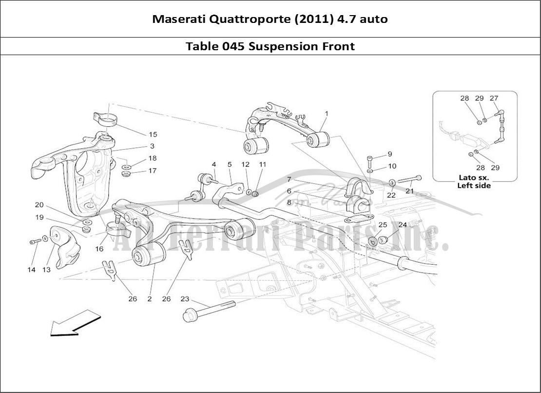 Buy Original Maserati Quattroporte  2011  4 7 Auto 045 Suspension Front Ferrari Parts  Spares
