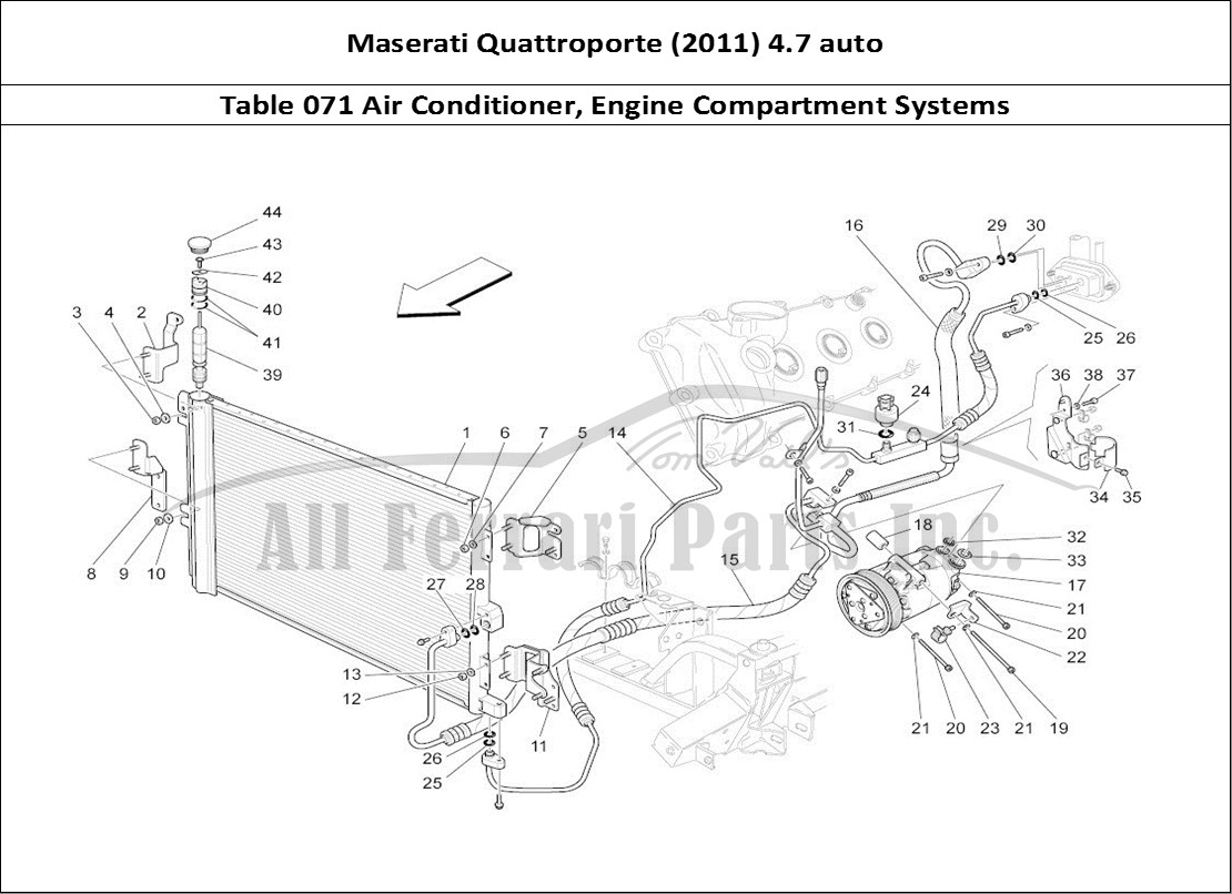 Buy Original Maserati Quattroporte  2011  4 7 Auto 071 Air