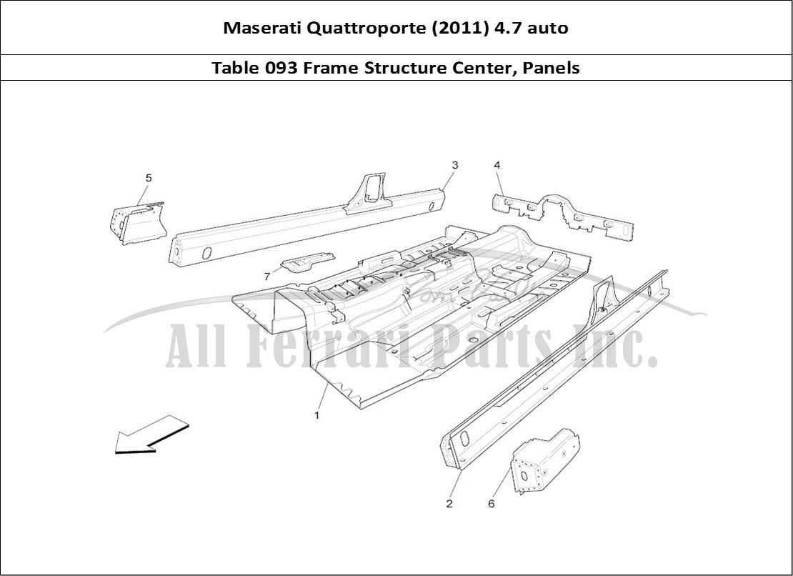 Buy Original Maserati Quattroporte  2011  4 7 Auto 093 Frame Structure Center  Panels Ferrari